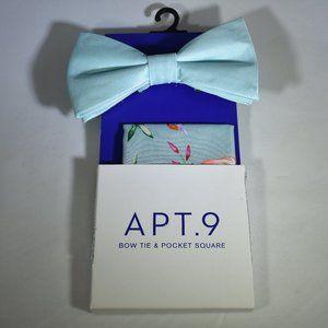 Apt. 9 Bow Tie & Pocket Square NWT Pearl Multi